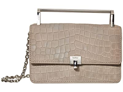 Botkier Lennox Crossbody (Silver/Grey Croco) Cross Body Handbags