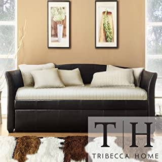 Metro Shop TRIBECCA HOME Deco Dark Brown Faux Leather Daybed with Trundle