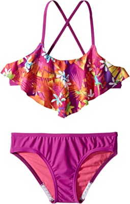 Speedo Kids - Hidden Tropical Ruffle Two-Piece (Big Kids)
