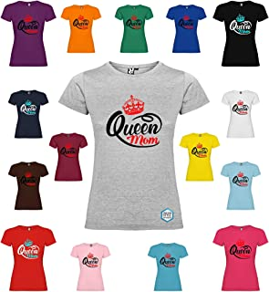 Maglietta personalizzata donna QUEEN MOM T-shirt con disegno vari colori