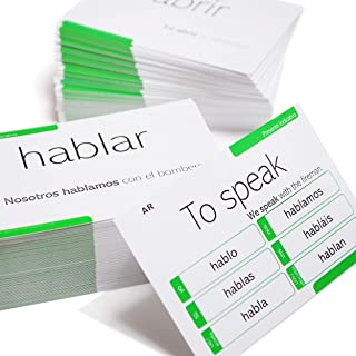 200 Spanish Verb Conjugation Presente Indicativo Flash Cards - Full Examples in Both Spanish and English