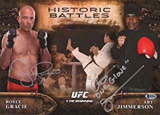 Royce Gracie Art Jimmerson Signed UFC 1 2014 Topps Bloodlines 10x14 Card BAS COA - Beckett Authentication