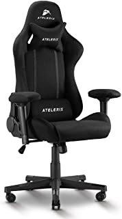 Atelerix Ventris Gaming Chair - PU Leather, Fabric, & Extra Wide Options - Office or Computer Chair - Tilting & Ergonomic ...