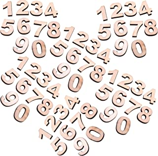 Cosmos 60 PCS Wooden Numbers for DIY Craft, Number 0 to 9, Total with 6 Sets