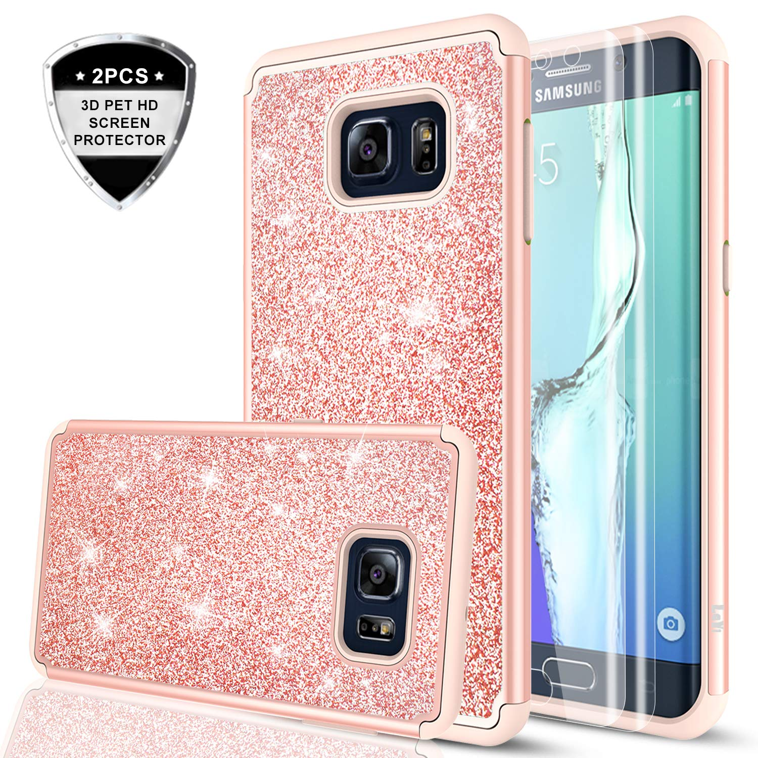phone case for galaxy s6 edge plus bling amazon comgalaxy s6 edge plus case (not fit s6 edge) with 3d pte screen protector