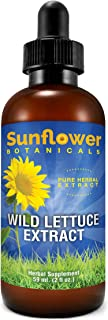Sunflower Botanicals Wild Lettuce Extract (Lactuca Virosa), 2 oz. Glass Dropper-Top Bottle, Vegan, Non-GMO and All-Natural, Optimally Concentrated