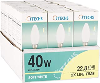15 Pk, Frosted, LED, B10, Dimmable, 40 Watt Equivalent, Soft