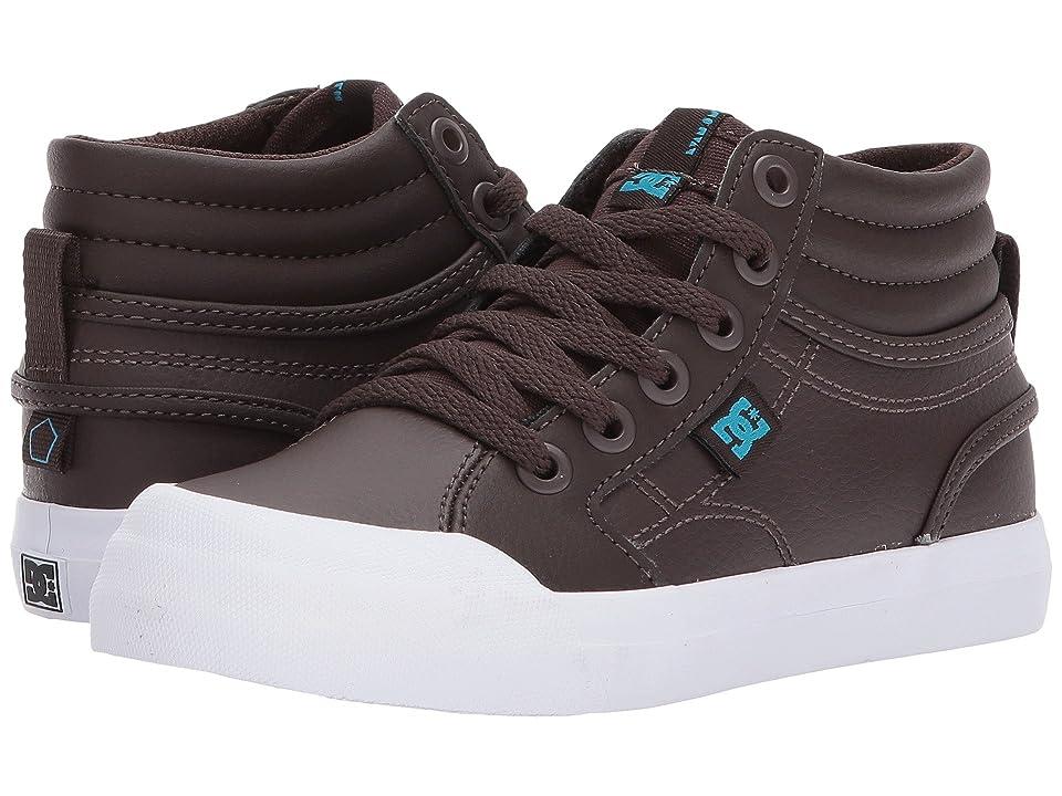 DC Kids Evan Hi SE (Little Kid/Big Kid) (Brown) Boys Shoes