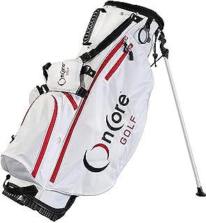 ONCORE GOLF Bags - Bolsa de golf con soporte, correa de transporte acolchada, separadores de palos de longitud completa, diseño ligero y duradero, soporte para paraguas y capucha para lluvia extraíble