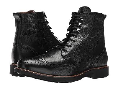 Massimo Matteo Perf Wing Boot (Black) Men