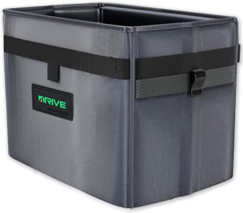 discount Car Trash Can and Garbage Bag Set: Leak Proof Trash Container with Lid and Accessories to Keep Your Auto 2021 Interior Clean - The Drive Bin new arrival As Seen on TV Collective - (Medium) sale