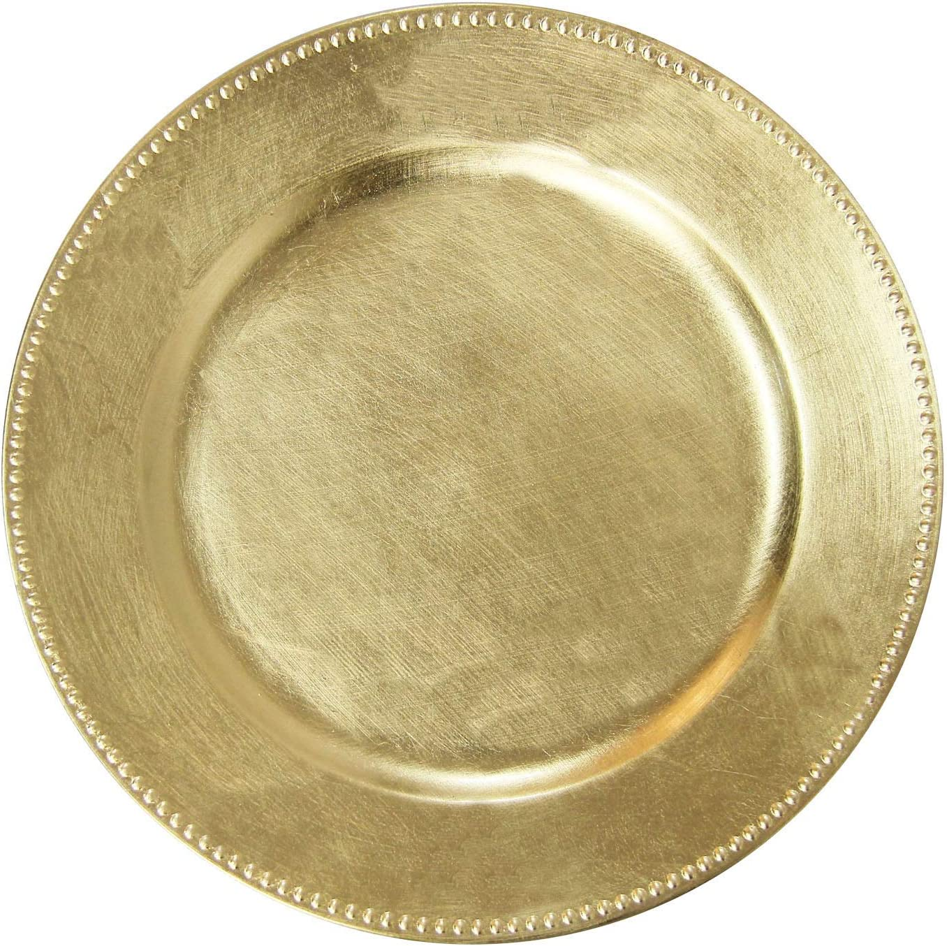 New mail order Gold Plastic Beaded Charger Fixed price for sale Plates - Inch pcs Weddin 13 12 Round