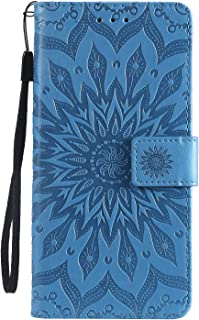 NEXCURIO Motorola Moto G7 / G7 Plus ケース 手帳型 PU レザーケース 耐衝撃 カード収納 スタンド機能 マグネット式 モトローラG7/G7Plus ケース 携帯カバー おしゃれ - NEKTU020098 青