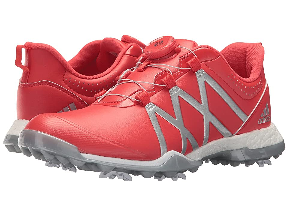 adidas Golf adiPower Boost Boa (Real Coral/Silver Metallic/Silver Metallic) Women