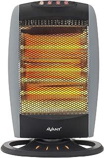 AVANT AV7574 - Estufa Eléctrica De Cuarzo Oscilante De 3 Tubos, 1200w. 3 Niveles De Potencia: 400 W - 800 W - 1200 W. Inte...