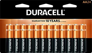 Duracell – CopperTop AA Alkaline Batteries – long lasting, all-purpose Double..