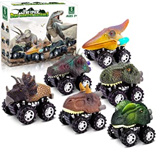 Dinosaur Toys for 3 Year Old Boys, Pull Back Dinosaur Toys for 5 Year Old Boy 6 Pack Set Car Toys for 4 Year Old Boys Chri...