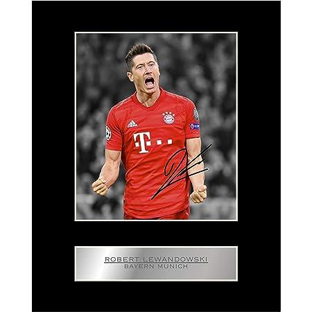 Robert Lewandowski #8 Happy Visage Sign/é Motivation Lustrant Football Lecteur Photo Escarpin Imprim/é Sport Inspiration Bayern Munich Image Bedroom Artwork Mural D/écoration R/éimpression