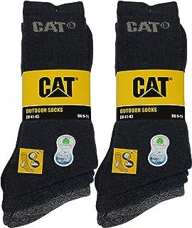 Outdoor socks 6 pares de calcetines para hombre en algodón suave con control de humedad, puntera y talón reforzados
