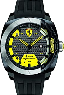 Ferrari Scuderia Aerodinamico Men's Black Dial Silicone Band Watch - 830204