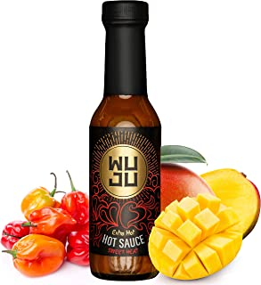 WUJU Extra Hot Sauce - Agave Based Hot Pepper Sauce - All-Natural Habanero Hot Sauce With Diverse Ingredients - Gourmet Ho...