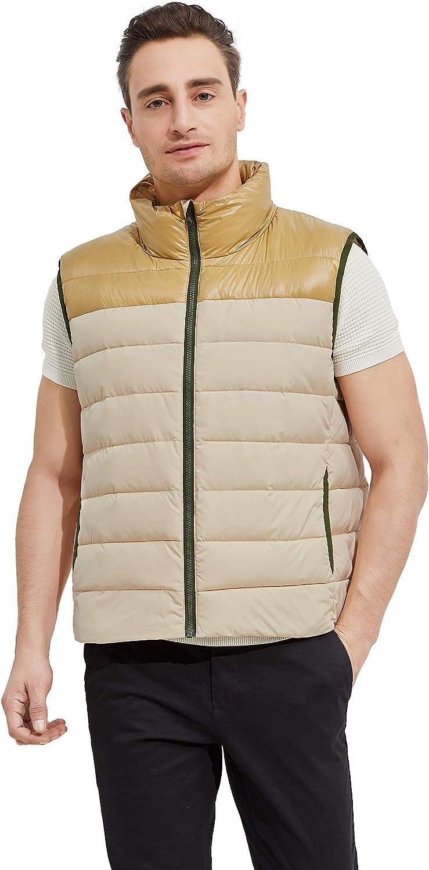 Orolay Men's Down Vest Lightweight Puffer Jacket Stand Collar