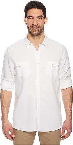 Roll-Tab Woven Shirt