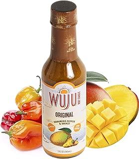 WUJU Original Agave Hot Sauce - Hot Pepper Sauce - All-Natural Habanero Hot Sauce With Diverse Ingredients - Gourmet Hot Sauce - Mild Hot Sauce, Low Sodium, No Preservatives - 5 Ounces