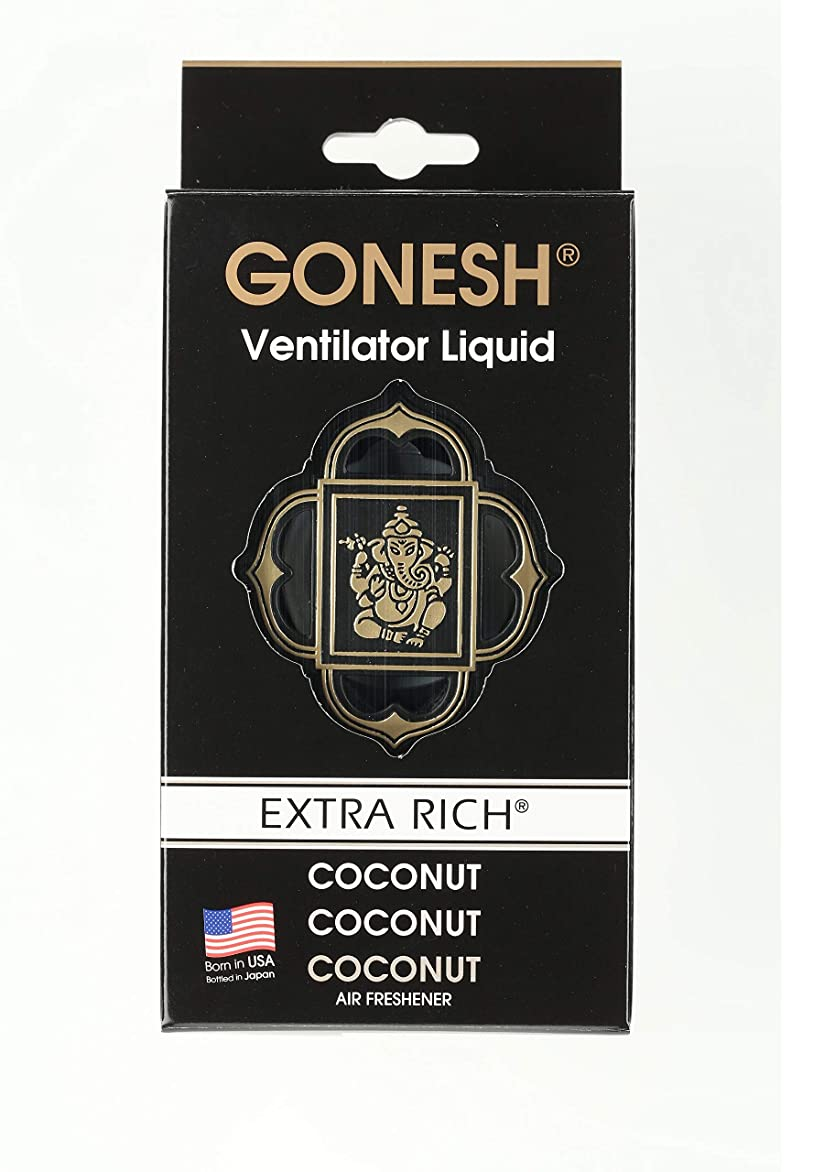 悔い改める検出可能組み込むGONESH(ガーネッシュ)ヴェンティレーターリキッド ココナッツ(ココナッツの香り)
