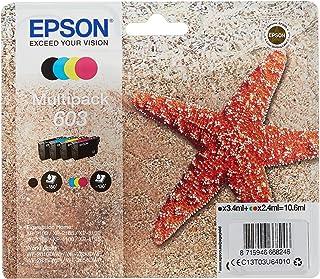 Epson 603 oryginalne opakowanie zbiorcze, 4-kolorowe wkłady atramentowe, gotowe do uzupełniania Amazon Dash