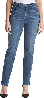 Amanda Embroidered Pocket Straight Leg Jeans