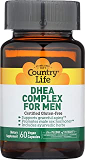 Country Life Dhea 25 Mg Complex for Men, 60-Count