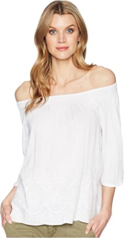 Off Shoulder Top with Embroidered Detail