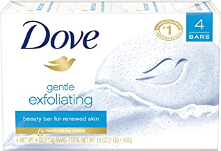 Dove Beauty Bar, Gentle Exfoliating 4 Ounce (Pack of 4) Bar