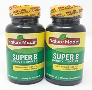 (2 Pack) - Nature Made Super B Energy Complex, 60 Softgels each.