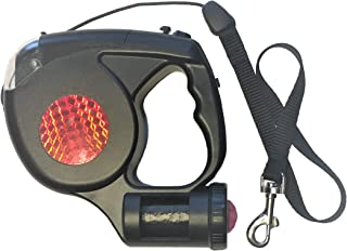 HEP Lifestyle 3 in 1 Retractable Dog Leash with LED Flashlight and Bag Dispenser | Premium 16 Ft Long Dog Leash Retractable Cord | Attached Poop Bag Dispenser & Bags Included | Best Tactical Dog Leash