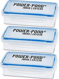 caja de almacenamiento de 3x 2x 18650 células IO para baterías protegidas (PCB) · El polvo y las salpicaduras de agua transparente POWER-POND®
