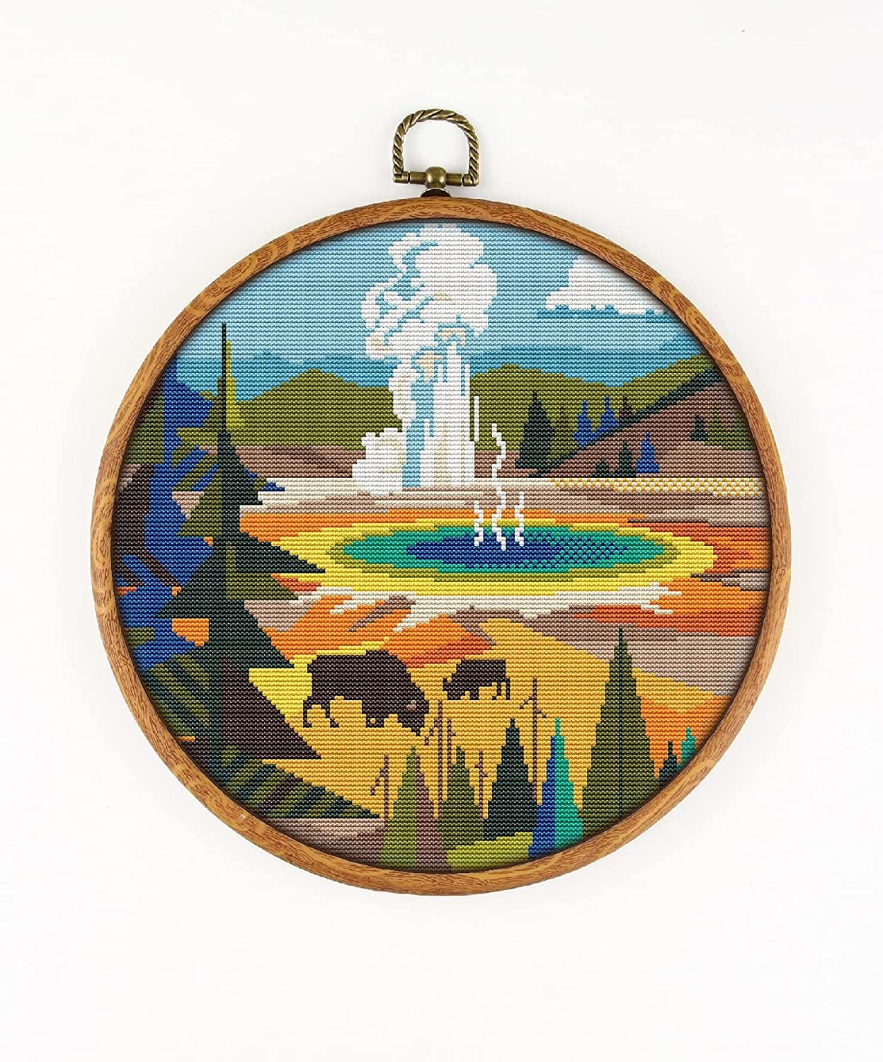 Special Campaign Yellowstone National Park K466 Counted Threa Cross Stitch Branded goods KIT#3.