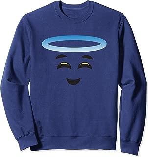 Angel Halo Smiling Face Halloween Emojis Easy DIY Costume Sweatshirt