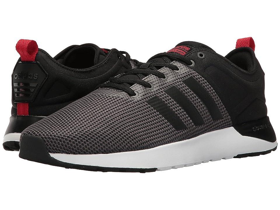 adidas Cloudfoam Super Racer (Solid Grey/Black/Scarlet) Men