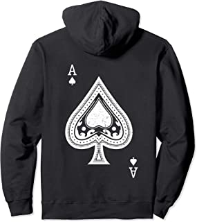 Ace of Spades Hoody for Men & Women White Print Hoodie BACK