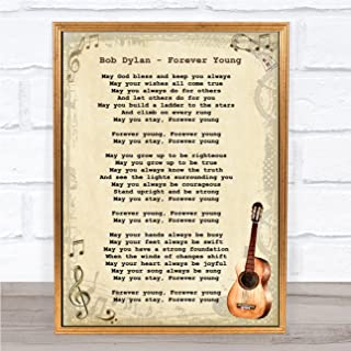 Forever Young Song Lyric Vintage Quote Print