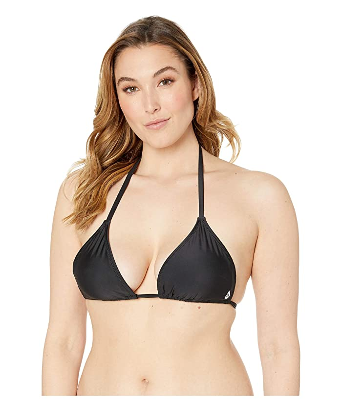 Volcom Plus Size Simply Solid Triangle (Black) Women