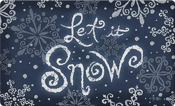 Toland Home Garden Let It Snow 18 X 30 Inch Decorative Floor Mat Winter Snowflake Christmas Doormat 800095