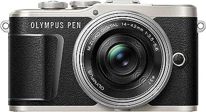 Olympus Pen E-PL9 Kit, Cámara de Sistema Micro Cuatro Tercios (16,1 MP, Estabilizador de Imagen de 5 Ejes, Visor Electrónico, 4K Vídeo) + Objetivo M.Zuiko 14-42mm EZ, Negro/Plata