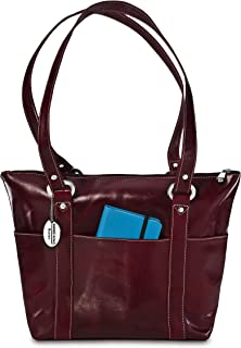 David King & Co Florentine 6 Pocket Shopper 3543 Red, Cherry (Turquoise) - 3543C