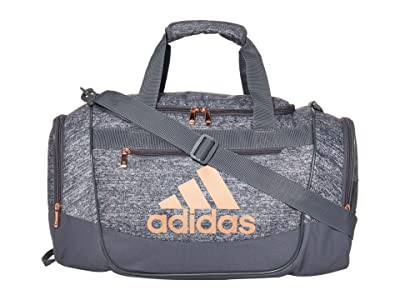 adidas Defender III Small Duffel (Jersey Onix/Rose Gold) Duffel Bags