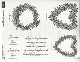 Stampin' Up! Wreaths of Happiness 2001 6 pc Wood Stamp Set