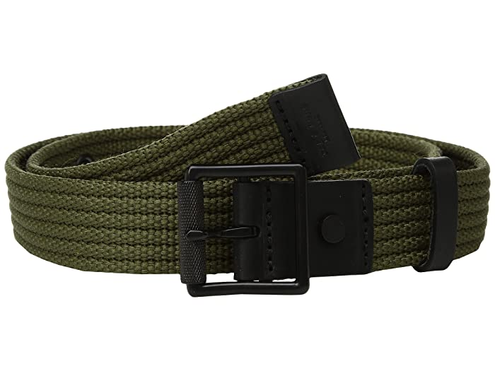 rag & bone Slim Webbing Belt (Army) Belts