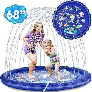 "Desuccus Splash Pad, 3-in-1 Sprinkler for Kids 68"" Wading Pool Sprinkler &.."